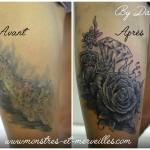 Cover lynx par roses et diamant