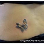 Tatouage papillon réaliste