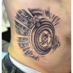 Tatouage montre noir et gris