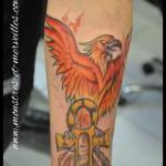 Tatouage de phoenix couleurs
