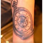 Tatouage montre à gousset
