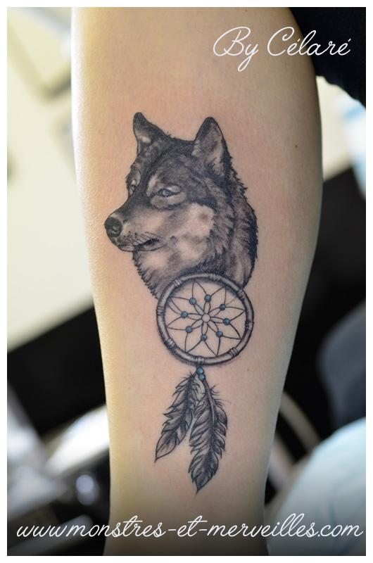 Tatouage loup origami - Tete de loup tatouage ...