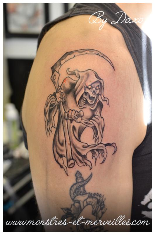 Pin la faucheuse tatouage on pinterest - Tatouage la faucheuse ...