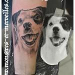 Tatouage chien réaliste