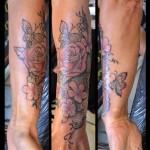Tatouage Rose et dentelle