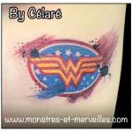 Tatouage logo wonderwoman
