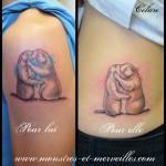 Tatouage marmottes