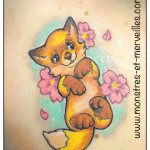 Tatouage renard kawaii