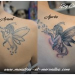 Tatouage recouvrement fée