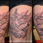 Tatouage dragon cuisse