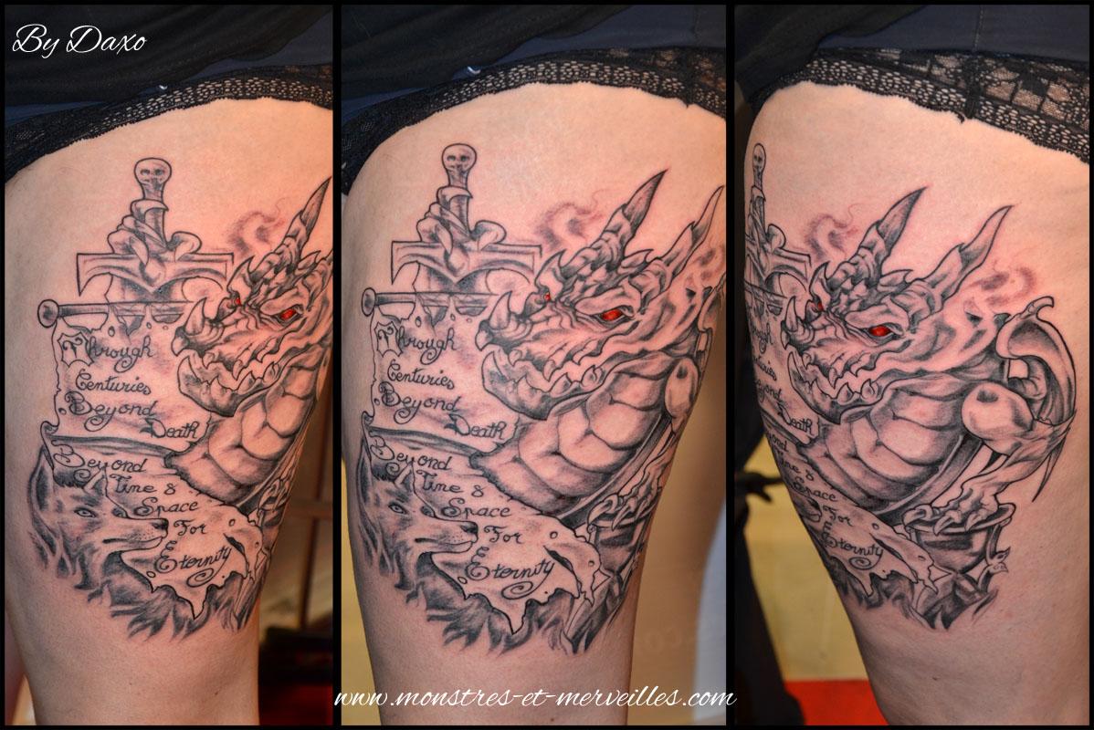 Tatouage dragon homme t shirt tattoo white with tatouage dragon homme interesting tatouage - Tatouage homme dragon ...