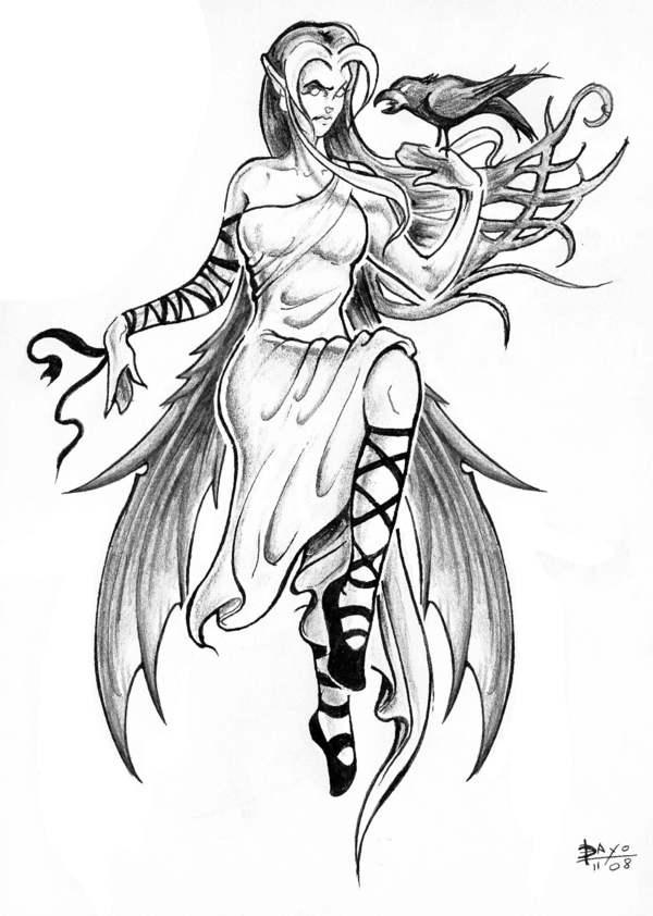 dessin elfe femme  dessin elfe fem...