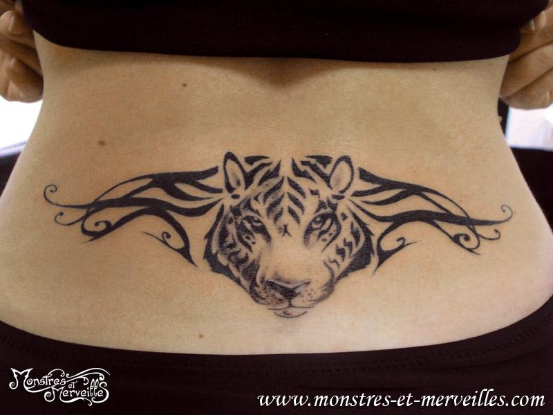 Tatouage de tête de tigre
