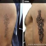 Tatouage de recouvrement - Dague