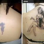 Tatouage de recouvrement - Femme