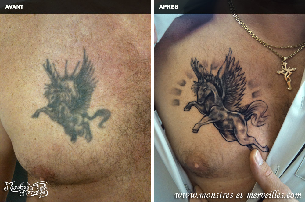 Pin De Recouvrement Pegase Tatouage Sirene On Pinterest