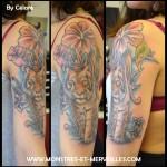 Tatouage tigre couleurs