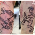 Tatouage squelette