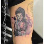 Tatouage de bouddha aquarelle