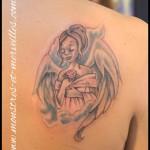 Tatouage ange couleurs