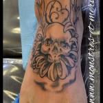 Crâne fleur