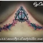 Tatouage Harry Potter aquarelle
